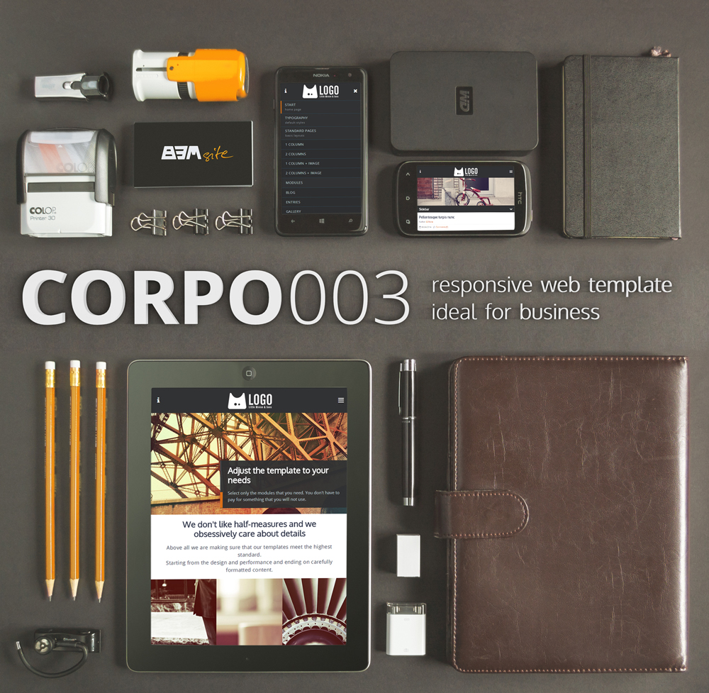 CORPO003 - Responsive web template