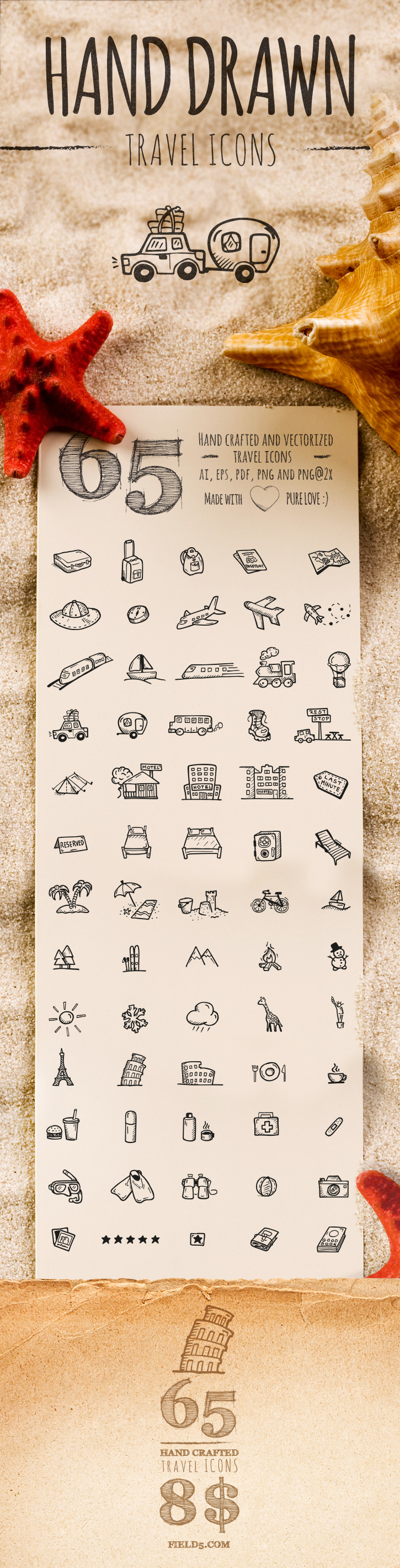 Hand Drawn Travel Icons