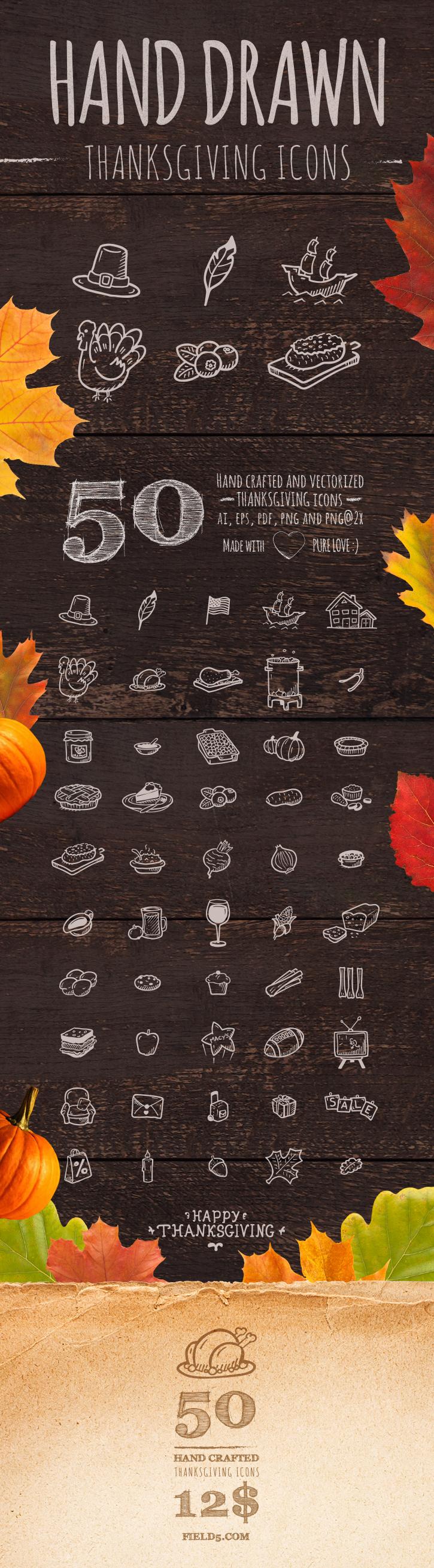 Hand Drawn Thanksgiving Icons